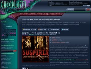 Ektoplazm:  Free Music Portal and Psytrance Netlabel