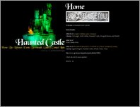 Haunted Castle website  page
