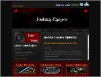 Joshua Casper: Official Website page