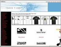 Shop for Trance T-shirts page