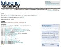 FatureNet Recordings page