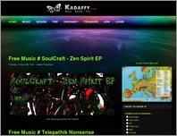 Kadaffy.com Psychedelic Art and Life Style page