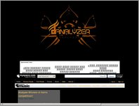 Analyzer Music site page