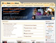 Point Blank Online Music School page